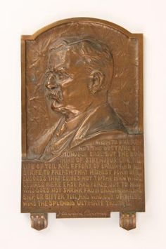 """Theodore Roosevelt's """"Doctrine of the Strenuous Life"""": A Scarce Bronze Plaque Featuring One of His Most Famous Quotes $1,750"""