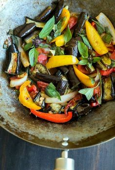 Wild Greens and Sardines : Japanese Eggplant Stirfry Side Recipes, Vegetable Recipes, Gourmet Recipes, New Recipes, Vegetarian Recipes, Healthy Recipes, Vegan Meals, Vegetarian Barbecue, Kraft Recipes