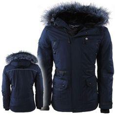 Teddy Gevoerde Jas.Hwj 1164 Canadian Peak Heren Parka Winterjas Faux Fur