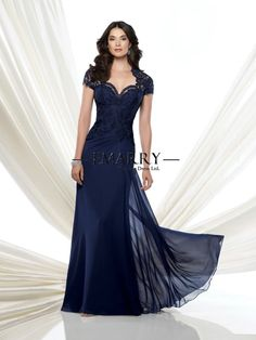 Barato Inm 225 nova chegada marinha laço azul mãe de noivas vestidos 2015 manga curta vestido de festa elegante vestido de noite longo, Compro Qualidade Vestidos de Noite diretamente de fornecedores da China:                                                                                                                       &n
