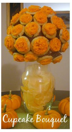 Cupcake bouquet for the fall festivities