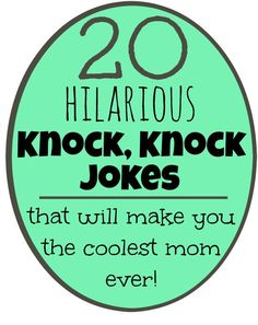 Printable knock knock jokes for kids from @lessonplanmom