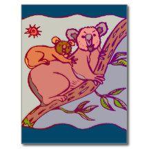 Koala bear 8 postcard