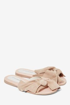 b923c180d0 Jeffrey Campbell Mucho Bow Suede Slide - Shoes