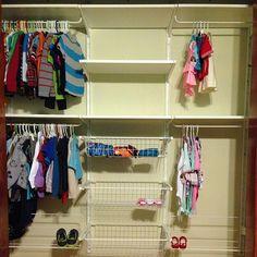 My ikea Algot closet!!!  For the kids shared closet.