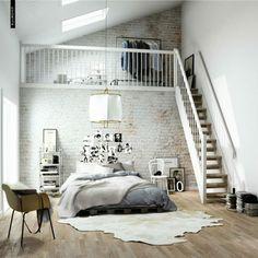 Skandinavisch Wohnen Schlafzimmer Leiter