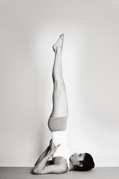 Sarvangasana - Shoulderstand Keep legs together and back straight