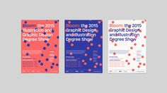 Graphic Design Agency, 3D Animation, Branding, Leicester Midlands UK   Moving Studio   De Montfort University 2015 Degree Show Identity   Bloom