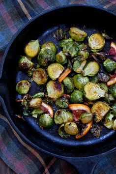 Blood Orange Roasted Brussels Sprouts via Running with Tweezers