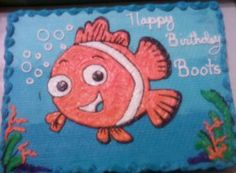I have also taken cake decorating classes and I'm thinking I want to make this Finding Nemo cake for my son's first birthday