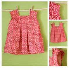 Girl's Dress Pattern PDF Sewing - The Brooke Dress Size 18m-5T