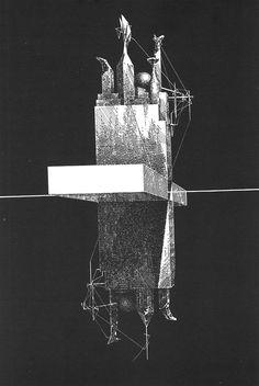 Lebbeus Woods - Einstein Tomb, 1980