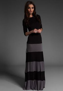 Morning by Morning Productions: Knock off sewing - Colorblock Maxi Dress
