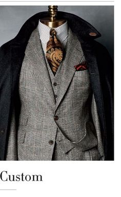 Men's Suits - English tailoring. Custom Taylor-made men's Suit. Sharp Dressed Man, Well Dressed Men, Mens Fashion Suits, Mens Suits, Mode Masculine, Moda Do Momento, Style Masculin, Three Piece Suit, Suit And Tie