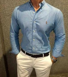 Top Tips To Find The Perfect Pair Of Shoes For Men. Fashion Mode, Work Fashion, Fashion Outfits, Men's Outfits, Camisa Ralph Lauren, Stylish Men, Men Casual, Terno Slim, Herren Outfit
