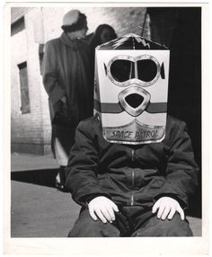 Weegee :: 'Space Patrol' - Boy wearing a 'Space Patrol' astronaut mask, ca. 1954 more [+] by this photographer