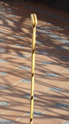 Bastonnº 46. Con 24 piezas de madera de limon de Cartama y 21 de acacia de Málaga Coleccion  rcuetosevilla@gmail.com  Málaga