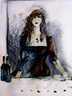 A Bar in Paris by Ros Webb Limited Edition print on by roswebbart, $20.00