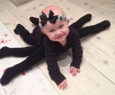 DIY Baby Spider Halloween Costume Idea