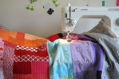 Simple straight line quilting