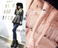 [leggycozy] Korean Kawaii Retro Polka Dot Velvet Pantyhose Stockings Polka Dots, Stockings, Velvet, Kawaii, Retro, Socks, Kawaii Cute, Pantyhose Legs, Rustic
