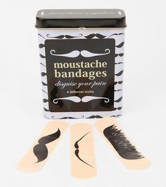 Mustache Bandages. Can these be used to disguise myself?!?!?