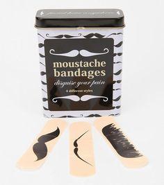 Des pansements « moustache », pour les hipsters blessés