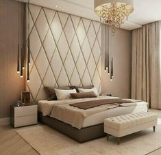 37 Wonderful Luxury Bedroom Design Ideas You Will Love - If you've ever watched Lifestyles of the Rich and Famous, you are familiar with what luxury bedroom decor is. It is defined by it's beauty, material, . Modern Luxury Bedroom, Master Bedroom Interior, Luxury Bedroom Design, Bedroom Bed Design, Bedroom Furniture Design, Luxurious Bedrooms, Bedroom Decor, Simple Bedroom Design, Indian Bedroom Design