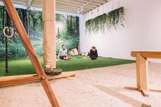 Line of ivy plants - Modern Design Gym Interior, Interior Design, Gym Architecture, Pilates, Gym Logo, Ivy Plants, Gym Design, Victoria, Office Decor
