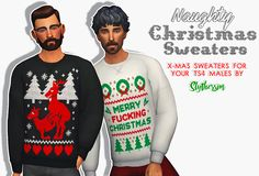 Sims 4 CC's - The Best: Naughty Xmas Sweaters by SLYTHERSIM
