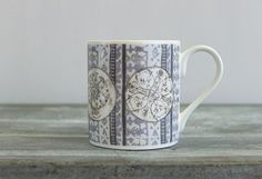 Contemporary Heritage Bone China Mugs by RachReynolds on Etsy Stoke On Trent, China Mugs, Bone China, Peacock, Scotland, How To Draw Hands, Coins, Pottery, Contemporary