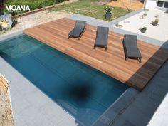 Geniale Idee! Bewegliches Holzdeck verdeckt sicher den Pool