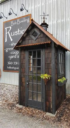 Tractor Shed Plans - Thoughts On Easy Methods In Wood Shed Plans Buildings - James Davis Backyard Storage Sheds, Garden Storage Shed, Backyard Sheds, Rustic Shed, Wood Shed, Garden Tool Shed, Garden Sheds, Yard Tools, Pump House