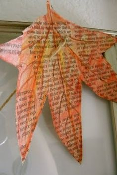 Enhanced Leaves / 35 New Uses For Old Newspapers And Magazines (via BuzzFeed)