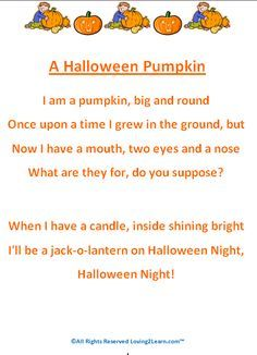 Halloween Poems - Printable Halloween Poems for Kids