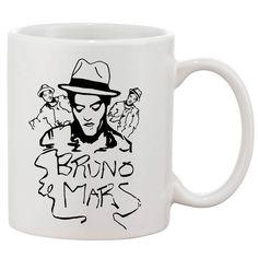 Bruno Mars Mug For Gift Mugs 11 oz Ceramic Design Funny Custom Gift Mug