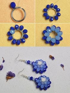 Like the blue beads flower earrings?The tutorial will be published by LC.Pandahall.com
