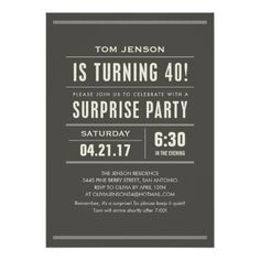 Surprise Birthday Invitations Surprise 40th Birthday Invitations