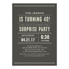 Surprise Birthday Invitations Surprise 40th Birthday Invitations