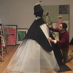 The beginnings of Some serous #BallGown #Draping today. My #creative time…