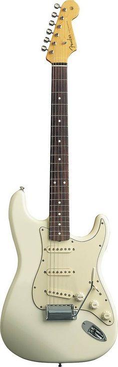 White on white Fender Strat