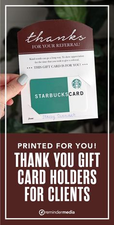 Whenever one of your clients gives you a referral, show them your gratitude by giving them a gift card! This high-quality printed tag will make your gift even more impressionable. get more referrals - grow business referrals - real estate agent marketing - realtor marketing - gift card holder printable Relationship Marketing, Show Appreciation, Kind Words, Thank You Gifts, Real Estate Marketing, Card Holder, Thankful, Cards Against Humanity, Make It Yourself