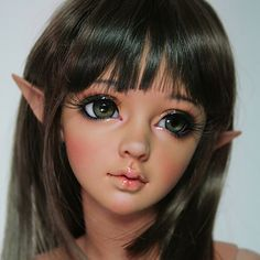 There still could be a slight difference between individual dolls. Note: Pink Normal Skin by default. About Makeup : Makeup is only face up, not include body make up. Doll Makeup, Face Makeup, Human Ear, Porcelain Dolls Value, Elf Ears, Doll Eyes, Tan Skin, Ooak Dolls, Ball Jointed Dolls