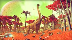 One of the estimated 18 quintillion worlds — each featuring exquisite detail of geology, flora and fauna — in the upcoming game No Man's Sky.