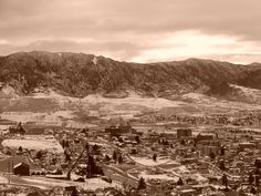 Overlooking historic Butte, MT - one of the first cities in the US with mass electricity and home of the Copper Kings