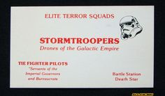Stormtrooper Visiting Card