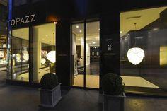 Unique Hotel Design Idea in Vienna, Austria : Precious Ornamental Plants Hotel Topazz Glass Wall Pretty Pendant Lamps Design Hotel, House Design, Hotels And Resorts, Best Hotels, Vienna Hotel, Unique Hotels, Small Buildings, Historical Architecture, House Front