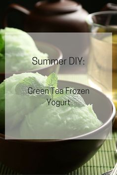 The warm summer sun is here!  Beat the heat by making your own green tea frozen yogurt!