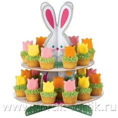 Подставка для кексов и пирожных из картона. Мастер-класс   Домохозяйка