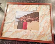 Repurpose a map as a custom photo mat with this step-by-step project for a DIY wedding gift and birthday gift | HGTV >> http://www.hgtv.com/design-blog/how-to/make-a-map-photo-mat?soc=pinterest